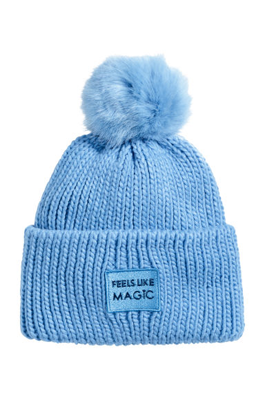 Ribbed hat - Blue -  | H&M