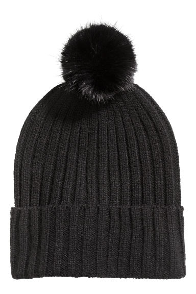 Pompom hat - Black -  | H&M IE