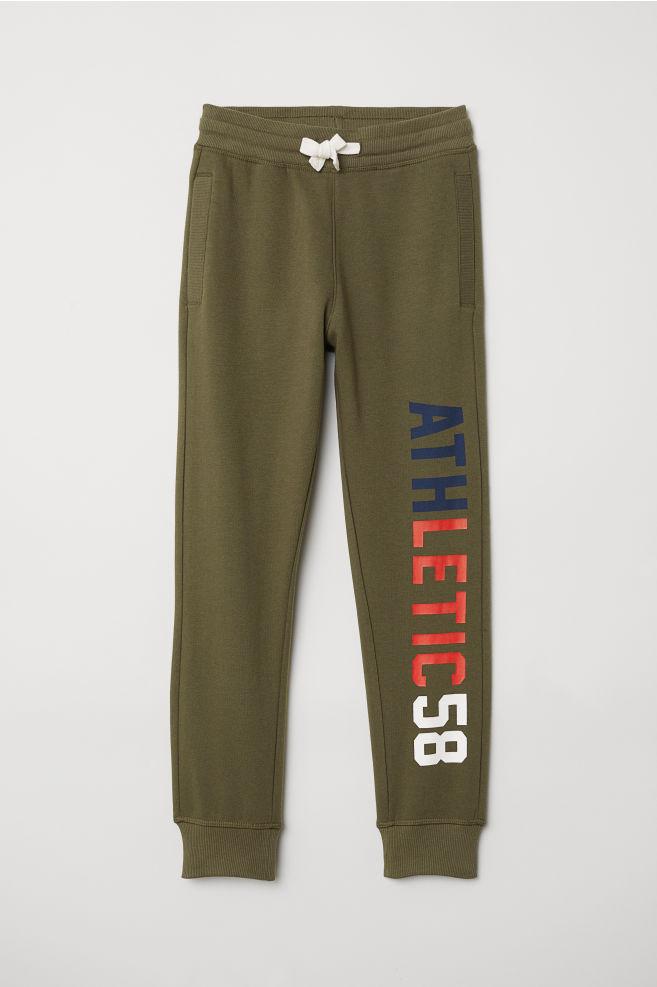 c89e81e00a7ff9 Sweatpants - Dark khaki green - Kids | H&M ...