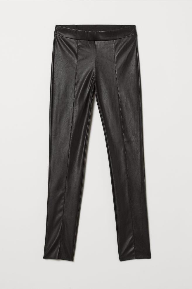 b018e68fd6816 Faux Leather Leggings - Black - Ladies | H&M ...