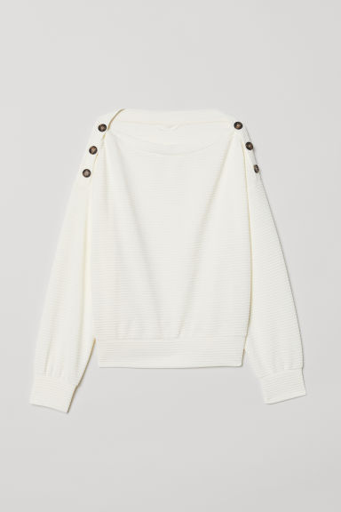 Top with buttons - Cream -  | H&M CN