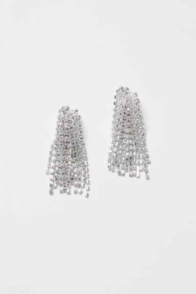 Silver-plated clip earrings - Silver-coloured - Ladies | H&M CN