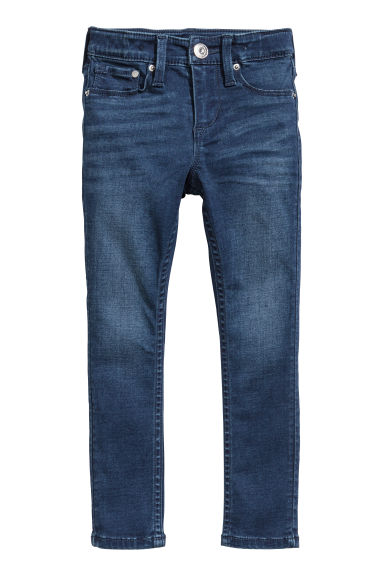 Skinny fit Satin Jeans - Dark denim blue -  | H&M CN