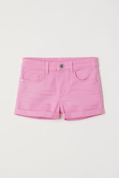Generous Fit Twill shorts - Pink - Kids | H&M