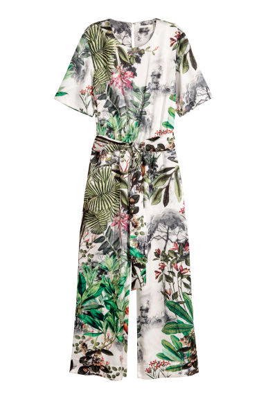 Jumpsuit - Natural white/Patterned - Ladies | H&M
