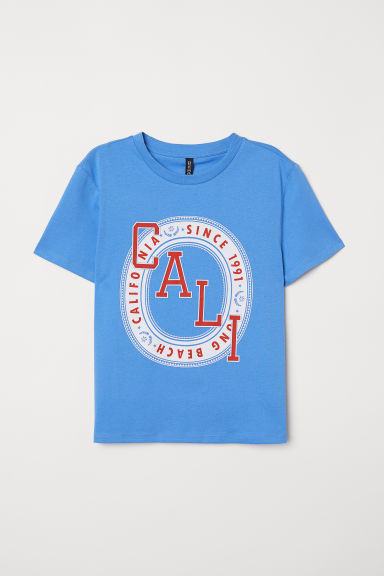 T-shirt con stampa - Blue/Cali - DONNA | H&M IT