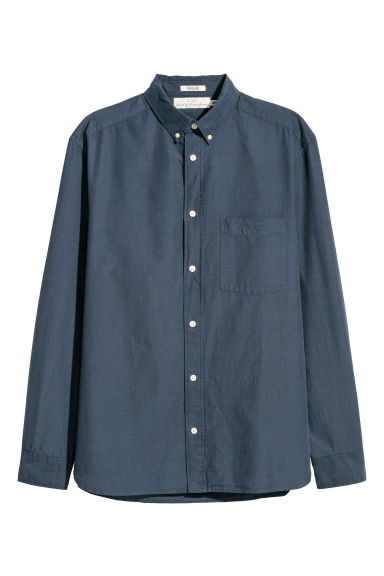 Camicia popeline Regular fit - Blu scuro -  | H&M IT