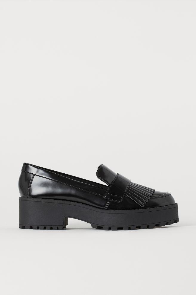 4edc2fd3c46c Platform Loafers - Black - Ladies
