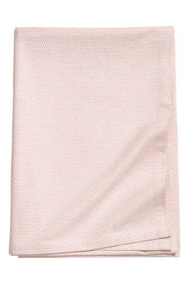 Textured tablecloth - Light pink/White -  | H&M GB