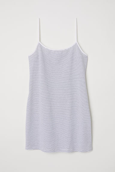 Canotta lunga in jersey - Bianco/righe - DONNA | H&M IT