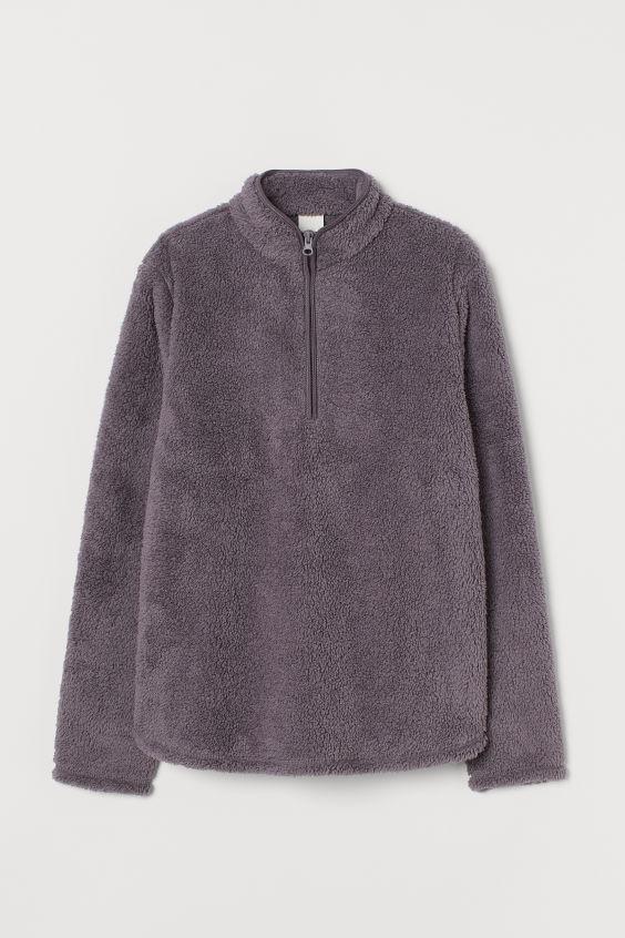 Faux Shearling Sweater