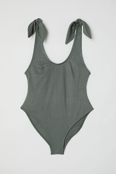 Swimsuit - Khaki green -  | H&M