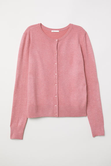Fine-knit cardigan - Pink - Ladies | H&M