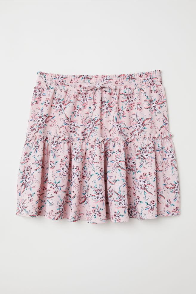 c9b29b647b429 Jupe en jersey à motif - Vieux rose fleuri - FEMME