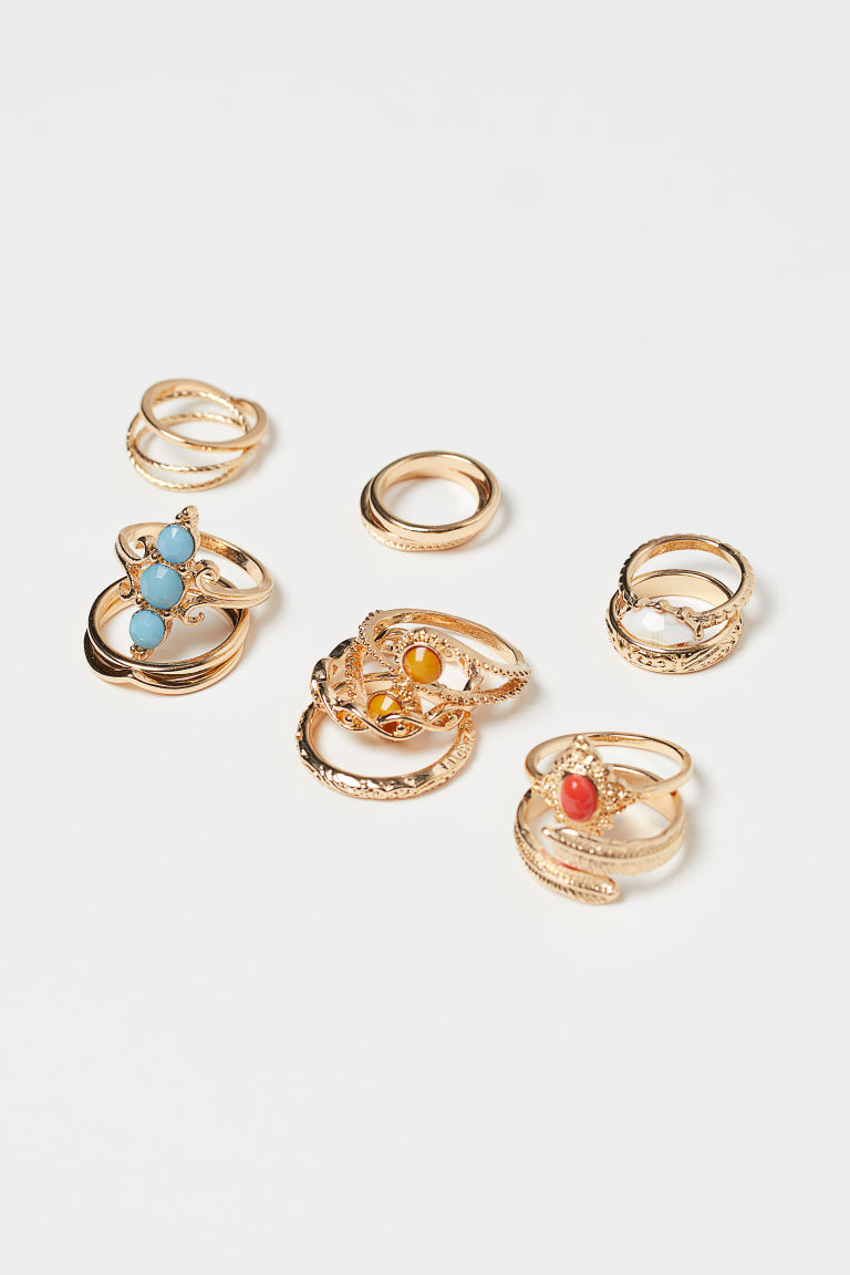 14-pack Rings - Gold-colored - Ladies | H&M US