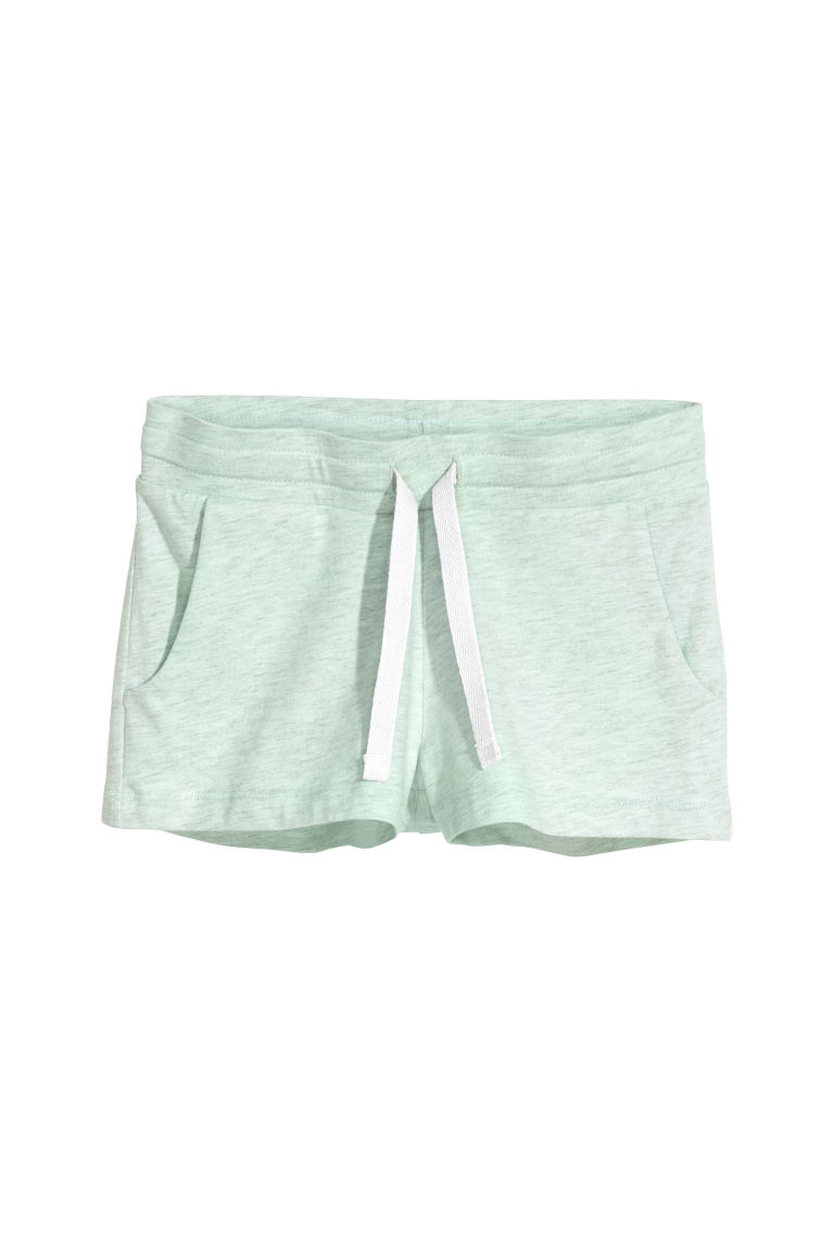 Shorts corti in jersey - Verde menta mélange -  | H&M IT
