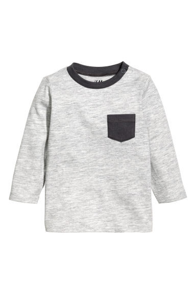 Jersey top - Grey marl - Kids | H&M