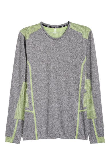 T-shirt training sans coutures - Gris chiné -  | H&M FR