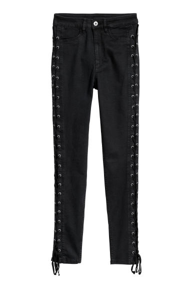Trousers with lacing - Black -  | H&M IE