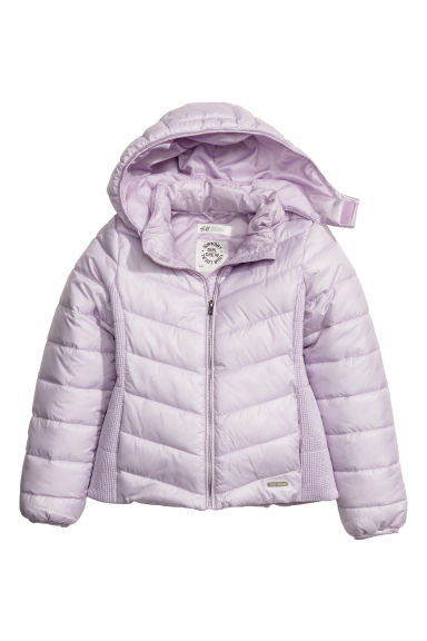 Padded jacket with a hood - Light purple - Kids | H&M CN
