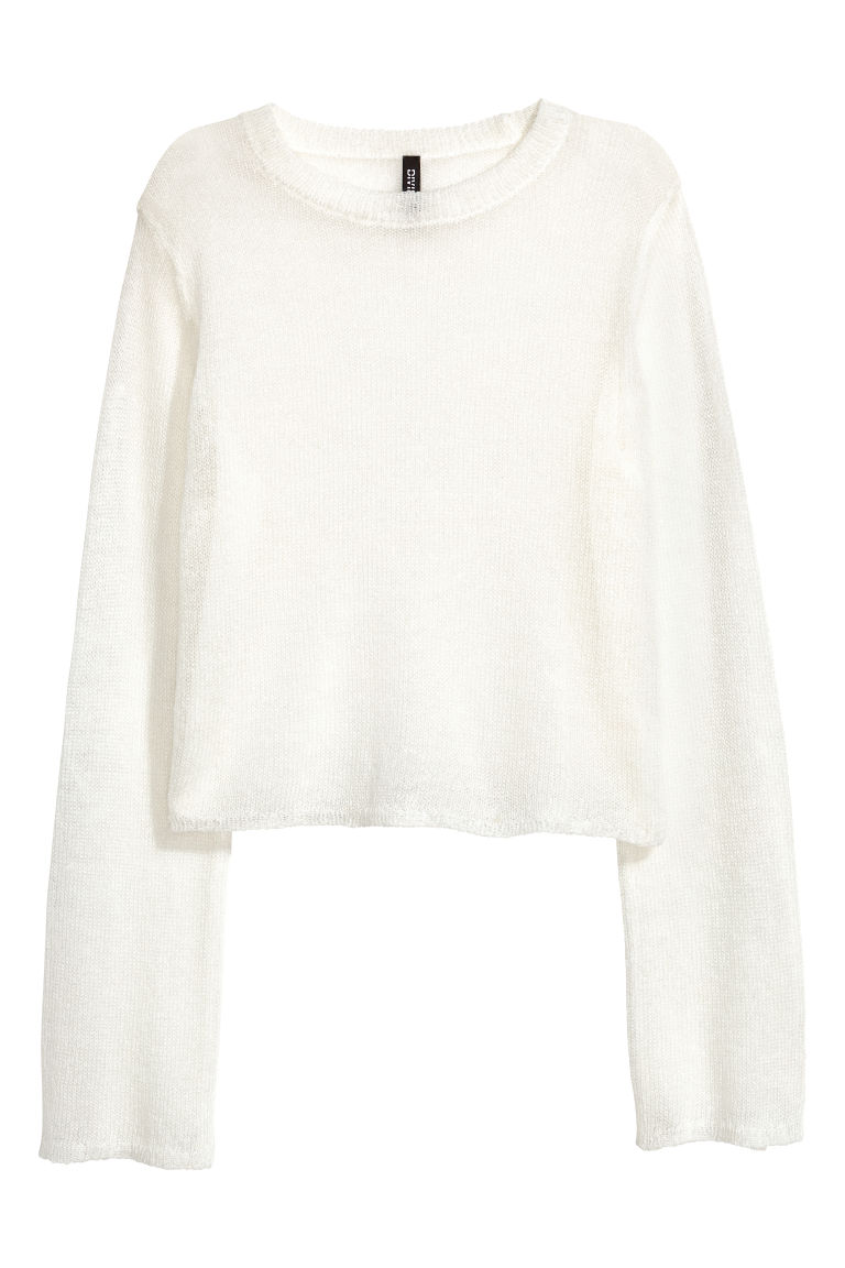 Loose-knit jumper - White -  | H&M