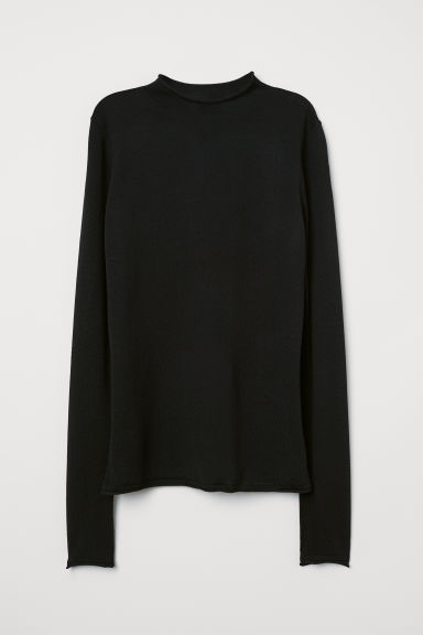 Pullover fine in lana merinos - Nero - DONNA | H&M IT