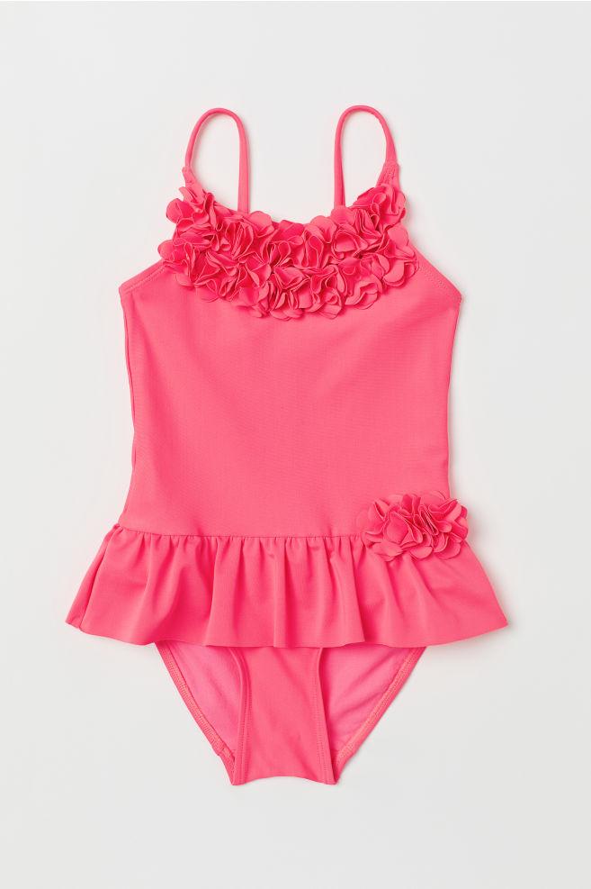 5537e2d65626 Plavky s aplikacemi - Neonová růžová - DĚTI
