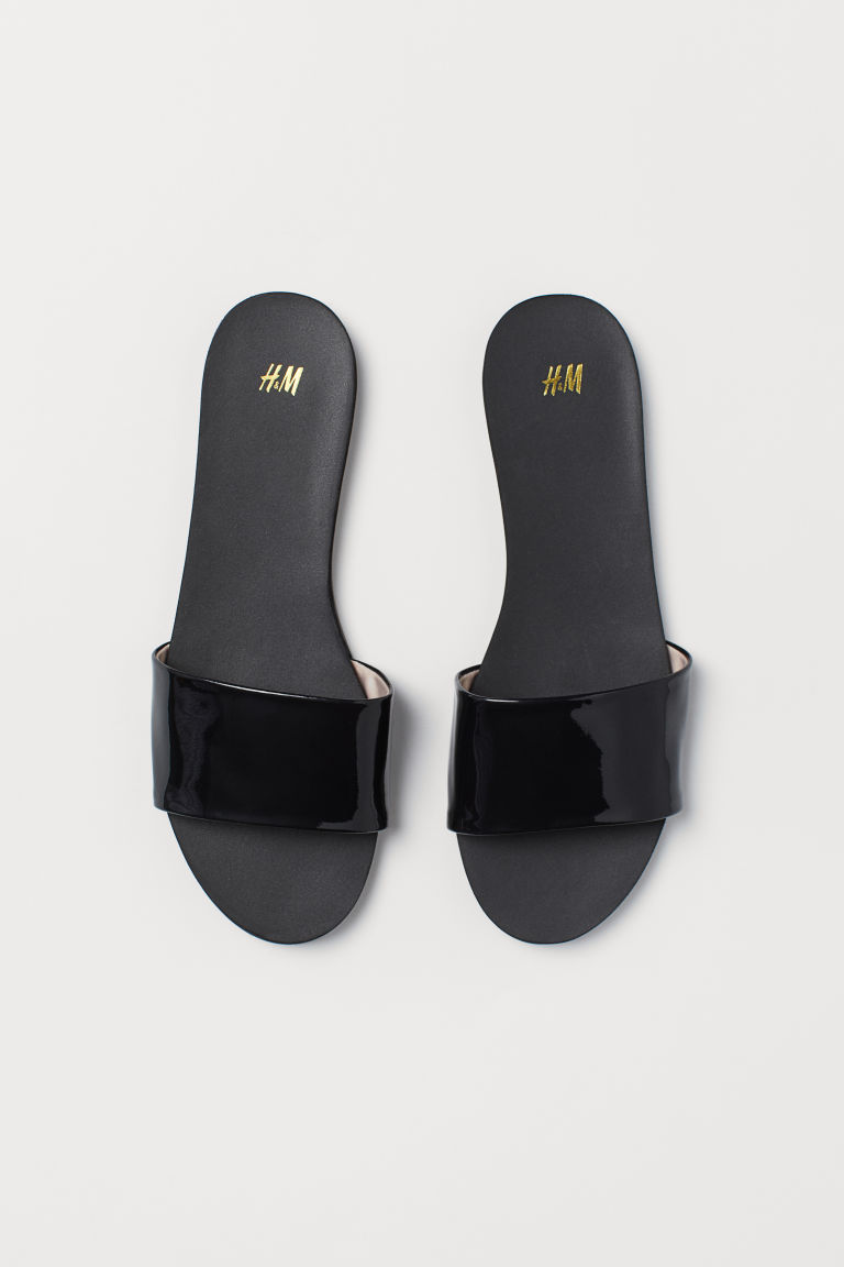 Slides - Black - Ladies | H&M CN