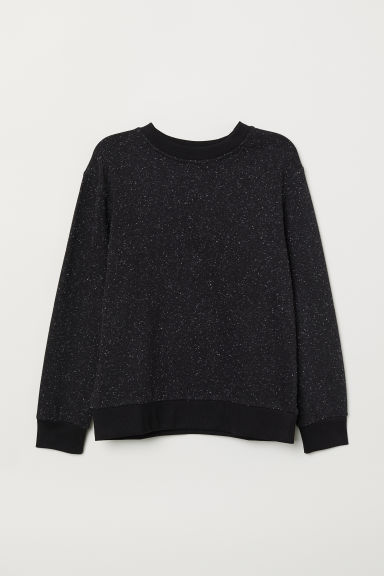 Sweatshirt - Black/Nepped - Kids | H&M