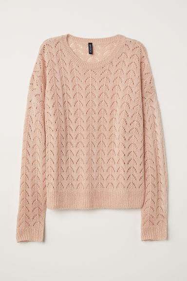 Knitted jumper - Old rose - Ladies | H&M CN