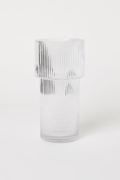 Large glass vase - Clear glass - Home All | H&M CN