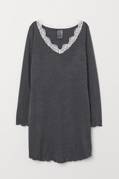 Nightdress - Dark grey - Ladies | H&M