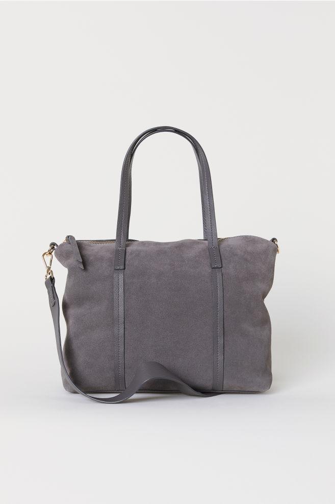 ac29ef0ba21 Suede handbag - Dark grey - Ladies