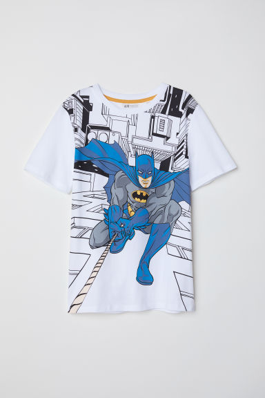 Printed T-shirt - White/Batman - Kids | H&M