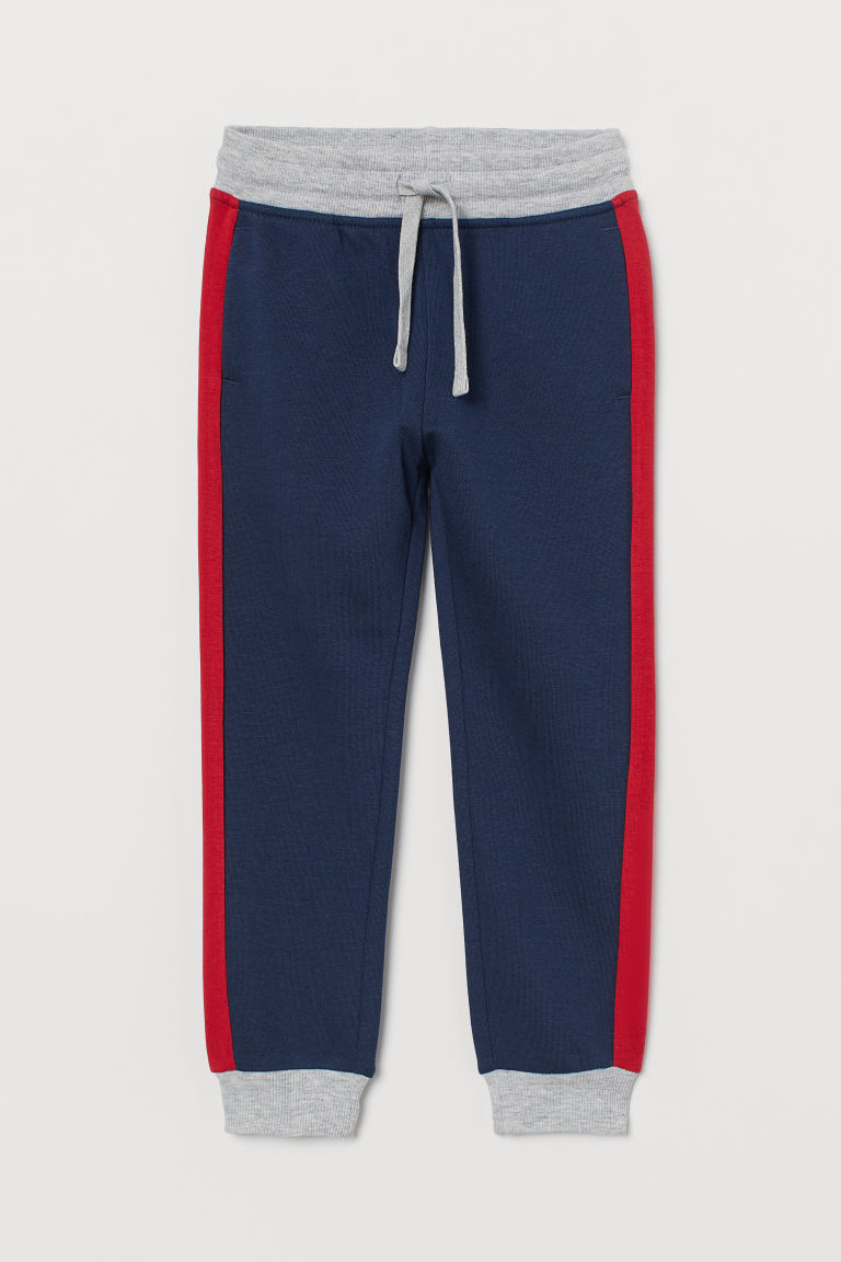 Joggers - Dark blue/Red/Grey - Kids | H&M GB