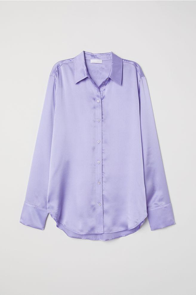 6cd77ca6b48e5e Silk blouse - Light purple - Ladies