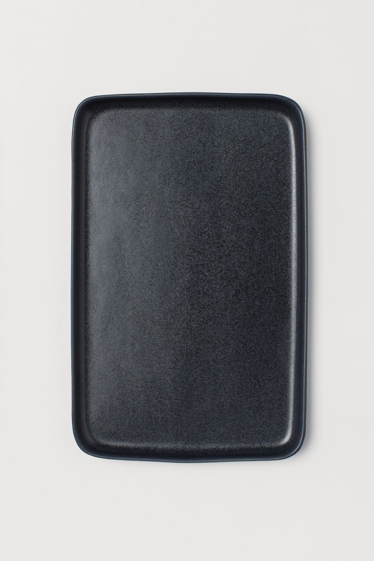 Stoneware plate - Dark grey - Home All | H&M CN