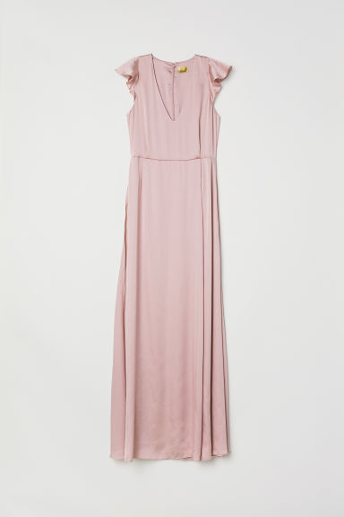 Satin maxi dress - Vintage pink - Ladies | H&M