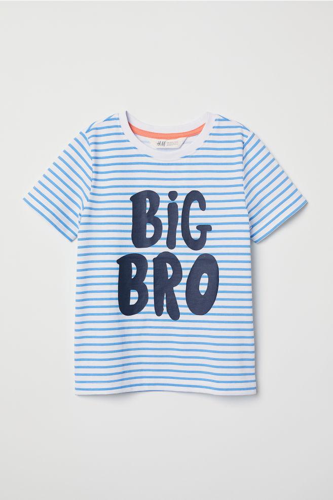 270eb0f35914e T-shirt à manches courtes - Blanc Big Bro - ENFANT