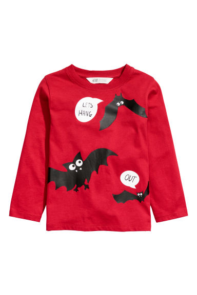 Tricot shirt - Rood/vleermuis - KINDEREN | H&M NL