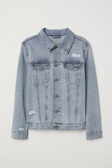 Denim jacket with zips - Light denim blue -  | H&M