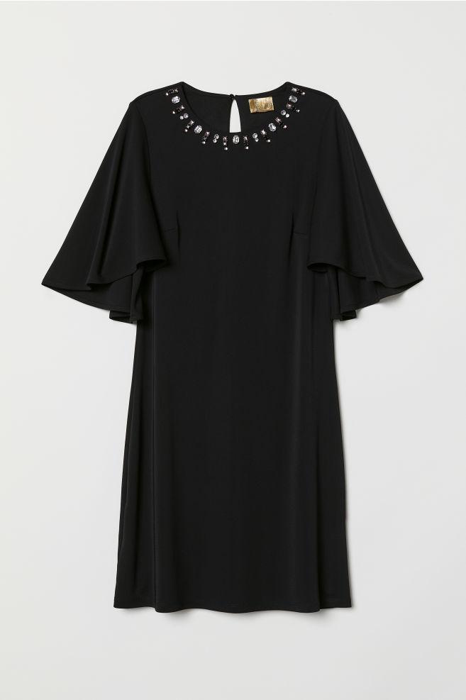 Vestido con mangas mariposa - Negro - MUJER | H&M ES 5