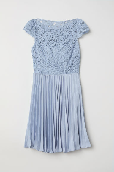 Pleated Dress - Light blue - Ladies | H&M US