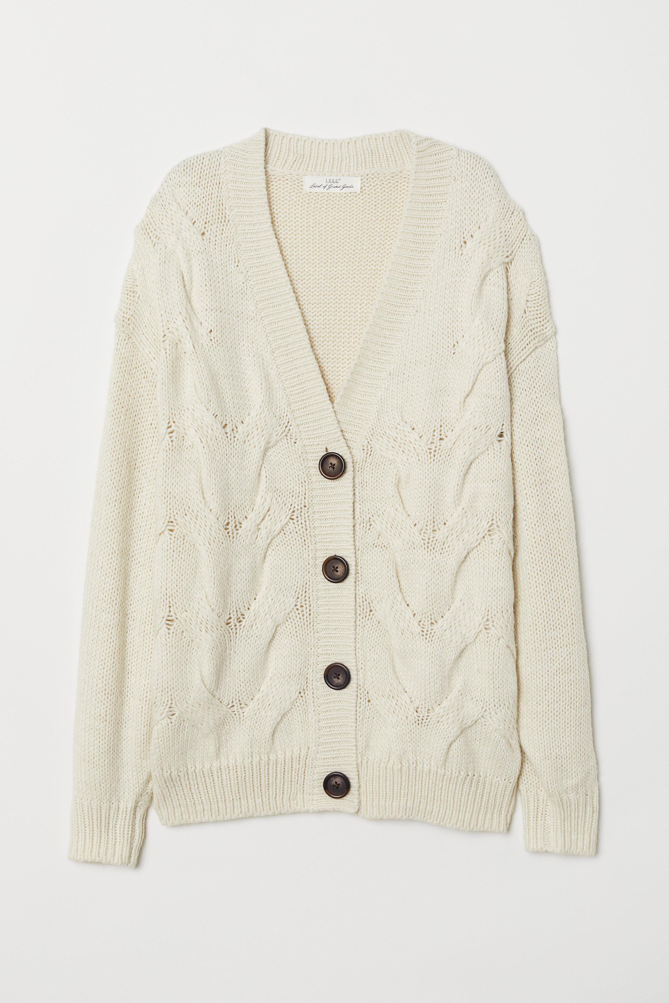 a33b6f07ca4 Cable-knit Cardigan
