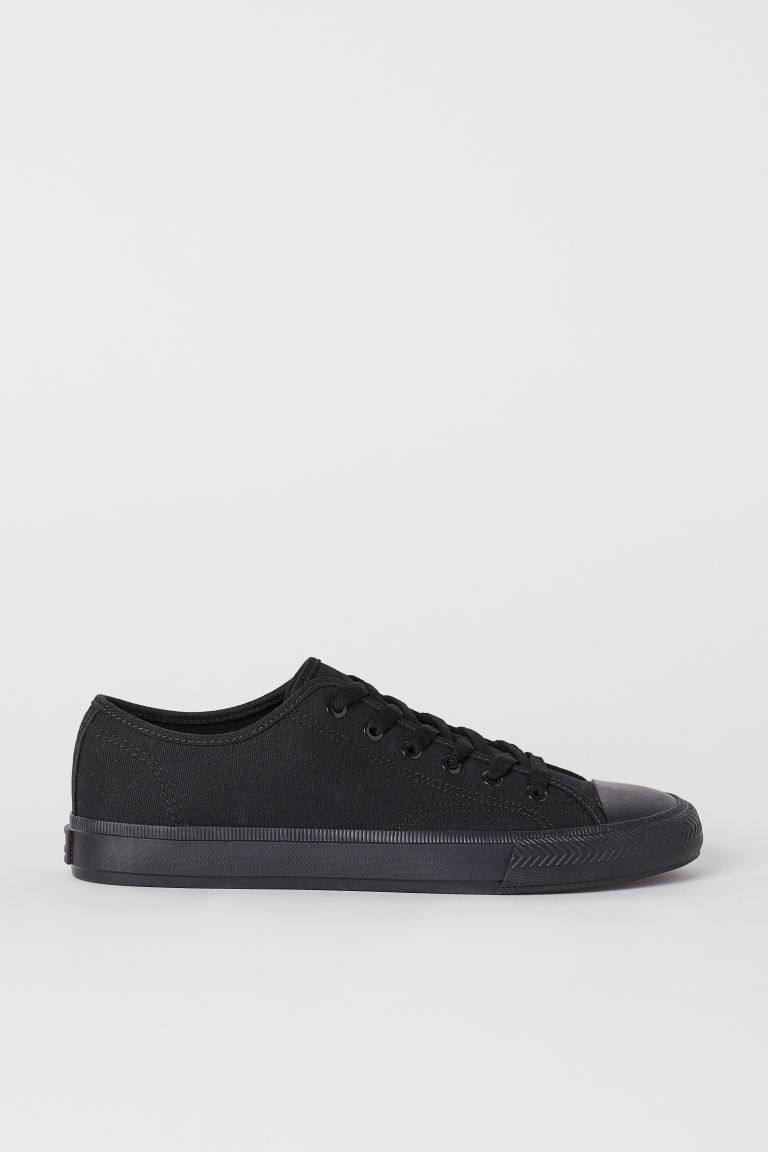 Canvas sneakers - Zwart - HEREN | H&M BE