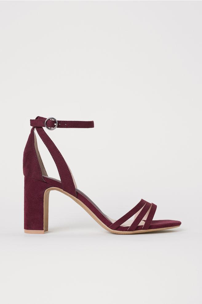 f3a623887c8 Sandals - Burgundy - Ladies