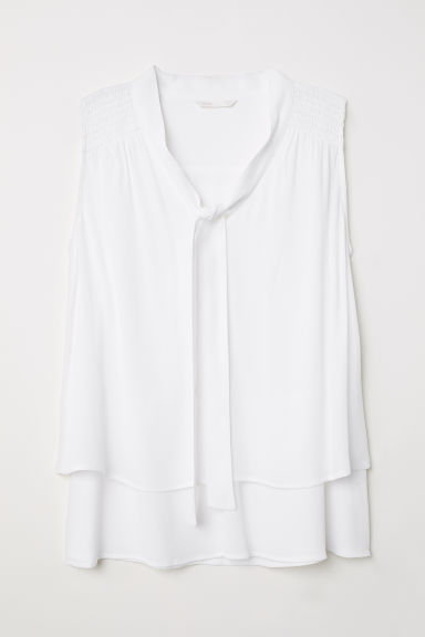 MAMA Nursing blouse - White - Ladies | H&M