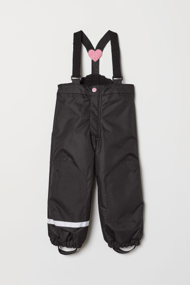 Pantaloni outdoor con bretelle - Nero - BAMBINO | H&M IT
