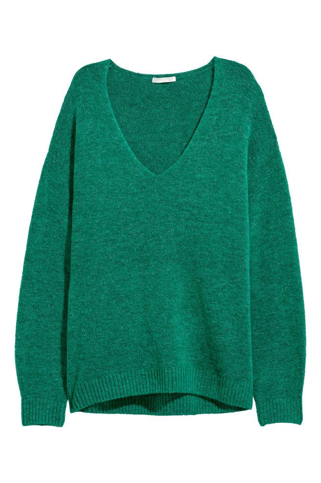 4c49a3bcf1a Fine-knit Sweater - Emerald green - Ladies