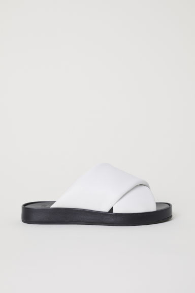 Leather sandals - White - Ladies | H&M CN